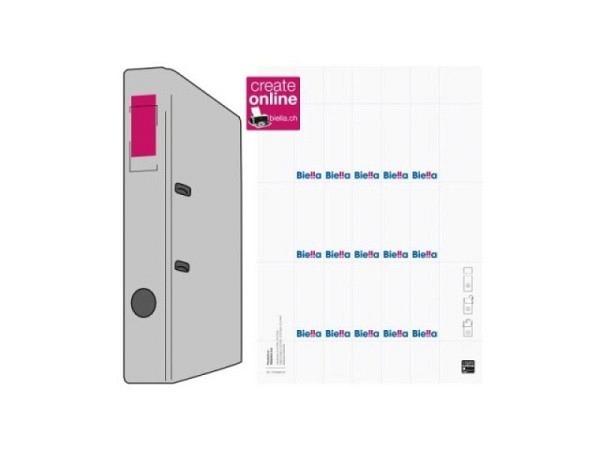 Rückenschilder Biella für Ordner, 27x74mm