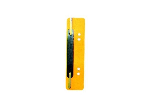 Abheftstreifen gelb 3,8x15cm, aus Kunststoff 25Stk