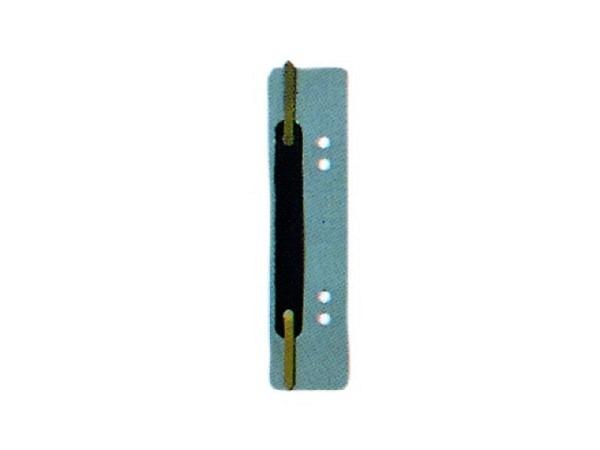 Abheftstreifen grau, 3,8x15cm, aus Kunststoff 25Stk