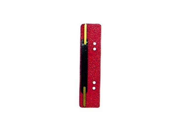 Abheftstreifen rot aus Kunststoff, 3,8x15cm 25Stk