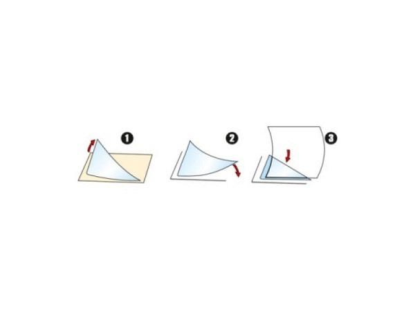 Dreieck-Taschen 3L 75x75mm Corner-Pocket 12Stk selbstklebend