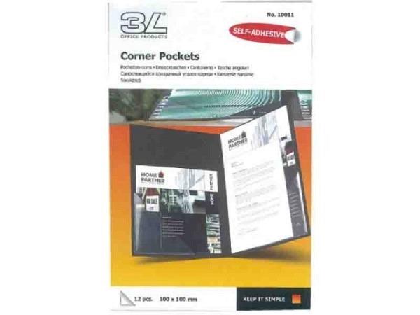 Dreieck-Taschen 3L 100x100mm Corner-Pocket 10011