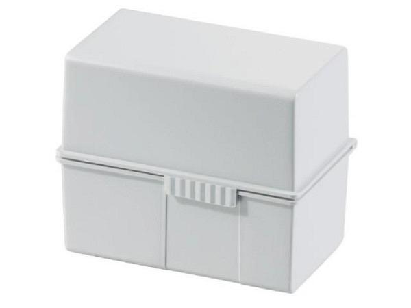 Karteikasten Han Box A6 lichtgrau, mit Schnappverschluss