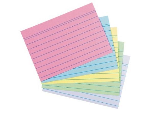 Karteikarten Biella A5 4mm kariert grün 100Stk