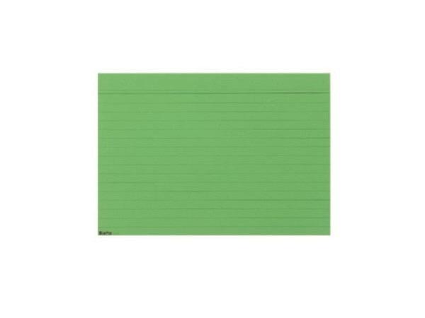 Karteikarten Biella A5 liniert grün 100Stk, mit Kopfzeile