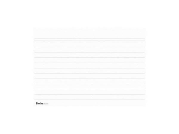 Karteikarten Biella A4 liniert weiss 100Stk