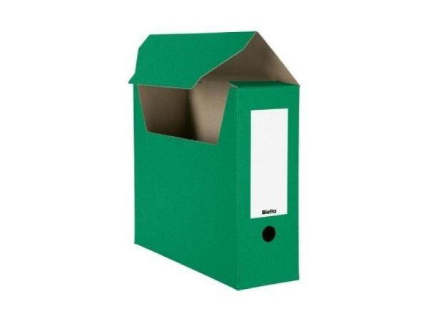 Archivschachtel Biella flach geliefert grün