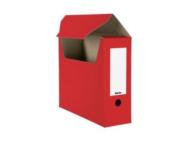 Archivschachtel Biella flach geliefert rot