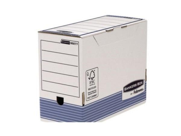 Archivschachtel Bankers Box System, weiss, aus in der Masse durchgef..