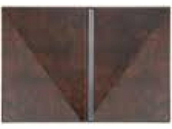 Bewerbungsmappe Veloflex Exquisit braun mit einer Klemmschie