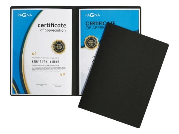 Bewerbungsmappe Kolma Tender A4 Karton blau, Klemmhefter