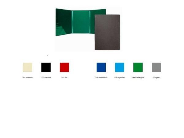 Bewerbungsmappe Paintner 824 schwarz, mit 2 Klemmleisten