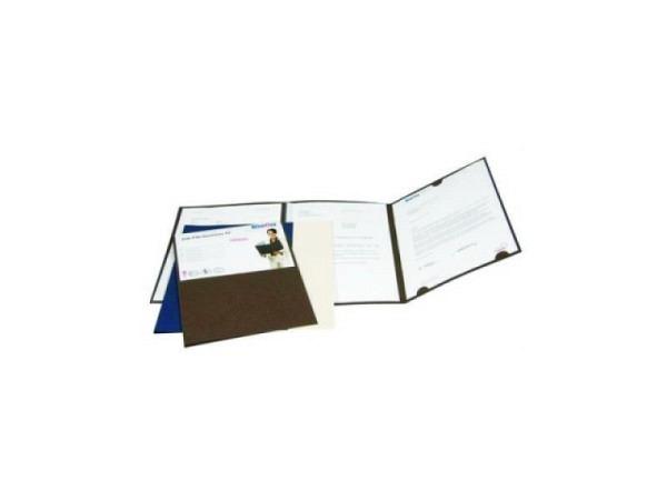 Bewerbungsmappe Biella JobFile Business 2 braun, 3-teilig