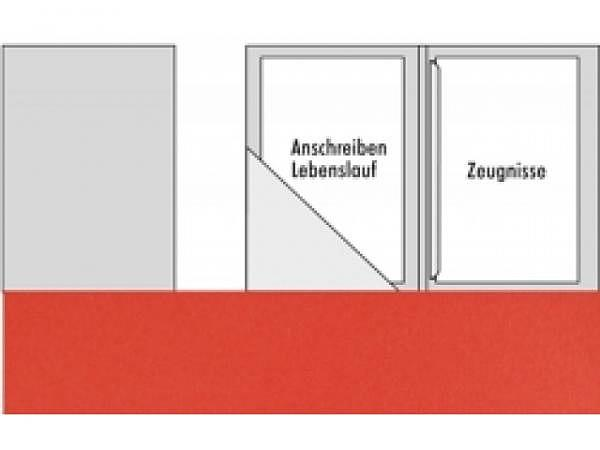 Bewerbungsmappe Transehe bordeaux mit 1 Klemmleiste