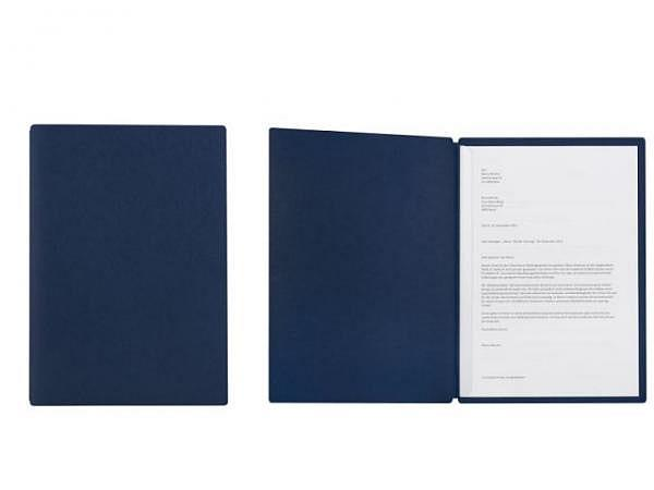 Bewerbungsmappe Kolma Tender A4 Karton blau,mit Klemmschiene
