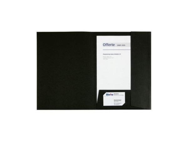 Bewerbungsmappe Biella Pearl A4 schwarz mit Sichttasche