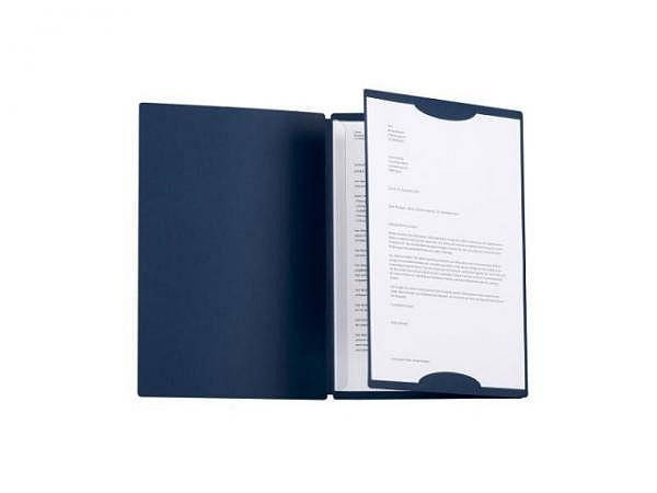 Bewerbungsmappe Kolma Tender A4 Karton blau 3-teilig