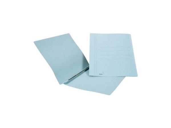 Schnellhefter Biella 2 Karton mit Schiebedeckleiste A4 blau