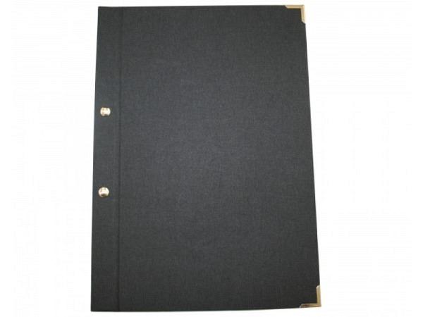 Schraubmappe Sulek A4 schwarzer Karton