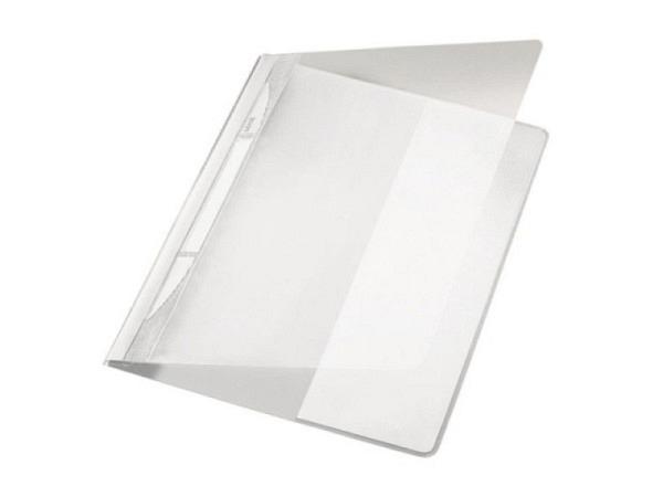 Schnellheft Leitz Exquisit A4 grau aus PVC, XL extrabreit