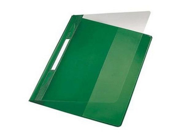 Schnellheft Leitz Exquisit A4 grün aus PVC, XL extrabreit