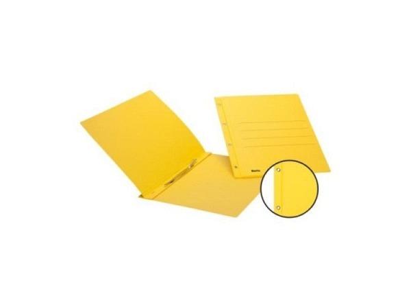 Schnellhefter Biella Color Karton Ösen A4 gelb