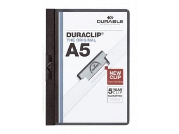 Klemmhefter Durable Duraclip A5 3mm schwarz für 1-30 Blatt
