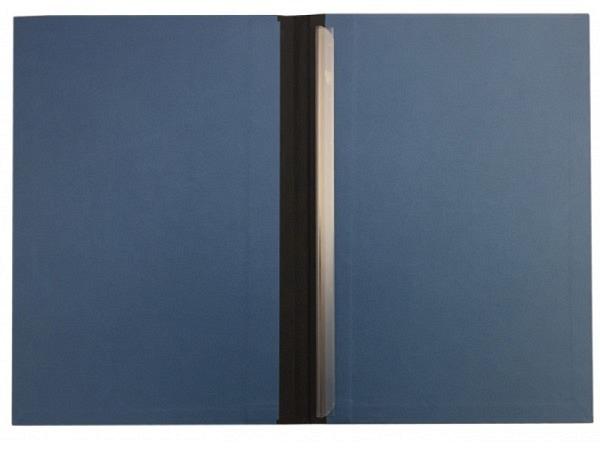 Klemmhefter Sulek Karton blau mit schwarzem Leinenrücken