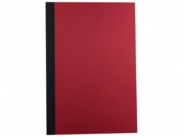 Klemmhefter Sulek Karton rot mit schwarzem Leinenrücken