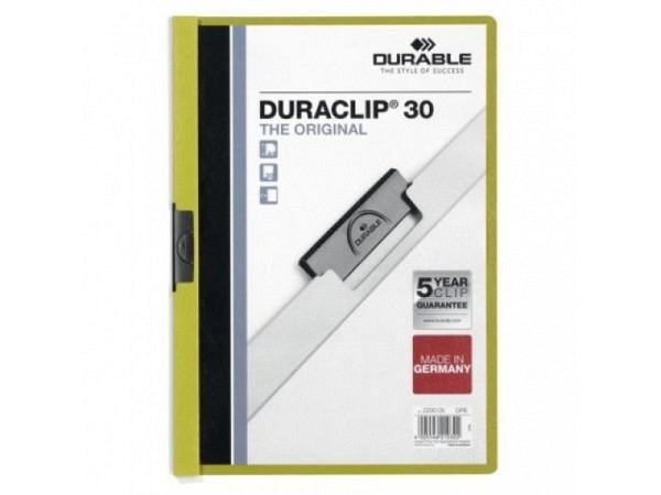 Klemmhefter Durable Duraclip 3mm grün, für 1-30 Blatt