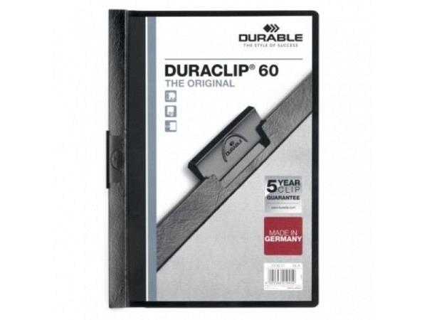 Klemmhefter Durable Duraclip 6mm dick schwarz, 1-60 Blatt