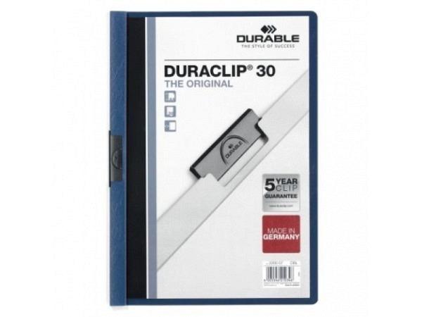 Klemmhefter Durable Duraclip 3mm dunkelblau, für 1-30 Blatt