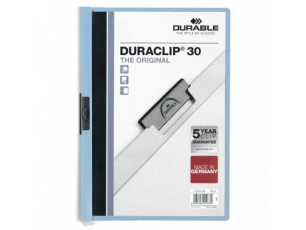 Klemmhefter Durable Duraclip 3mm blau, für 1-30 Blatt