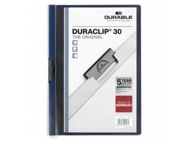 Klemmhefter Durable Duraclip 3mm nachtblau, für 1-30 Blatt