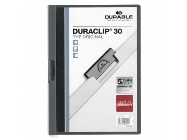 Klemmhefter Durable Duraclip 3mm anthrazit, für 1-30 Blatt