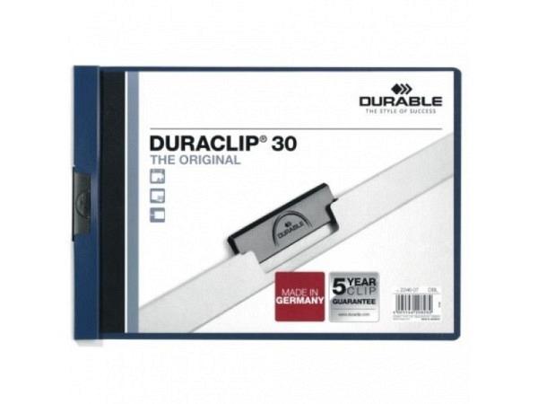 Klemmhefter Durable Duraclip A4quer 3mm dunkelblau