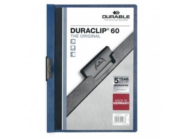 Klemmhefter Durable Duraclip 6mm dick dunkelblau, 1-60 Blatt