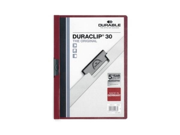 Klemmhefter Durable Duraclip 3mm aubergine-bordeaux