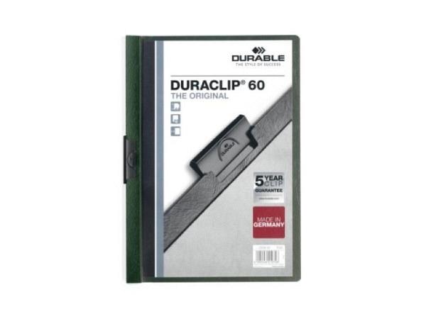 Klemmhefter Durable Duraclip 6mm dick petrol, 1-60 Blatt