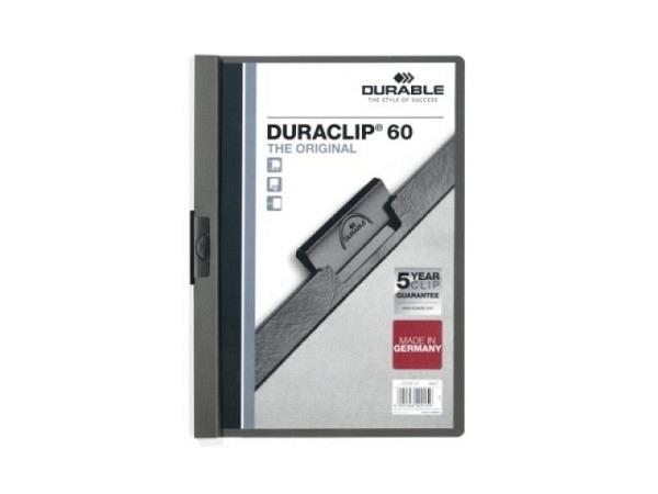 Klemmhefter Durable Duraclip 6mm dick anthrazit 1-60 Blatt