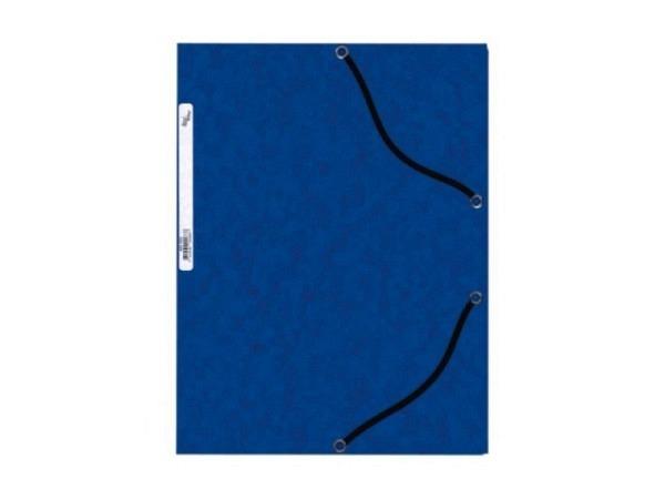 Pendenzenmappe Büroline A4 blau mit 3 Klappen und Gummiband