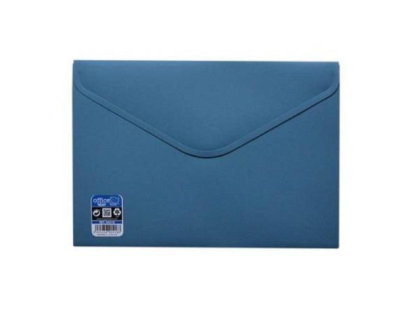 Pendenzenmappe Office Box A5 mit Klettverschluss stahlblau opak
