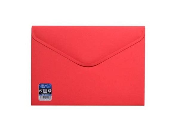 Pendenzenmappe Office Box A5 mit Klettverschluss rot opak