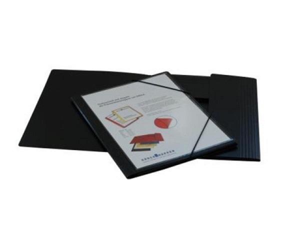 Pendenzenmappe Erola Presspan A4 0,65 schwarz