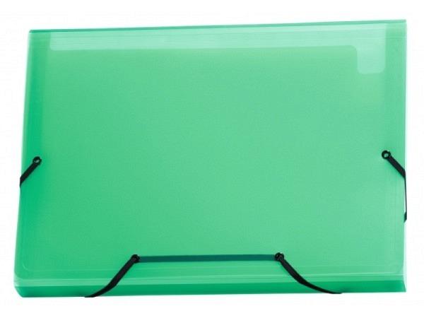 Fächermappe Kolma Daily Easy A4 transparent grün 13 Fächer