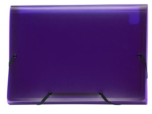 Fächermappe Kolma Daily Easy A4 transp violett 13 Fächer