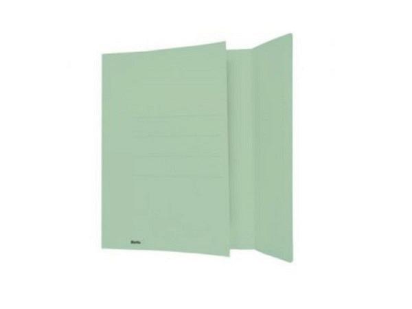 Pendenzenmappe Biella grün A4 Karton mit Seitenklappe