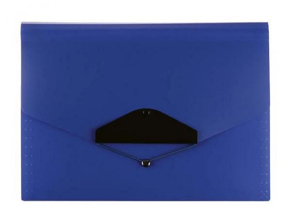 Fächermappe Büroline 12 Fächer, blau, A4 quer 33x23,5cm