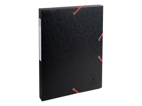 Sammelbox Exacompta Karton 25mm Rückenbreite schwarz