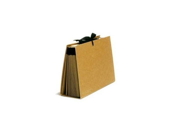 Fächermappe Schwartz Kraftpapier mit 20 Fächern A5